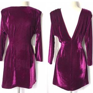 TULAROSA x REVOLVE Velvet Dress V-Neck Sz S